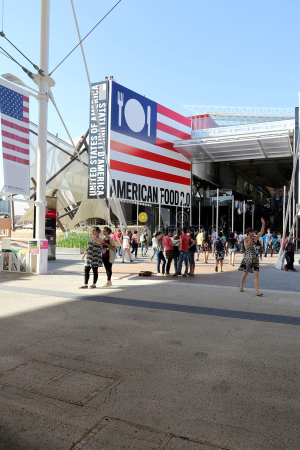 Милан павильона США, экспо 2015 Милана стоковая фотография