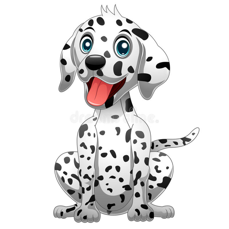 Милая далматинская собака иллюстрация штока