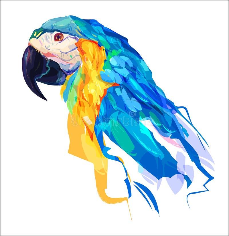 Милая голова попугая иллюстрация штока