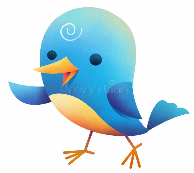 Милая голубая оранжевая птица бесплатная иллюстрация