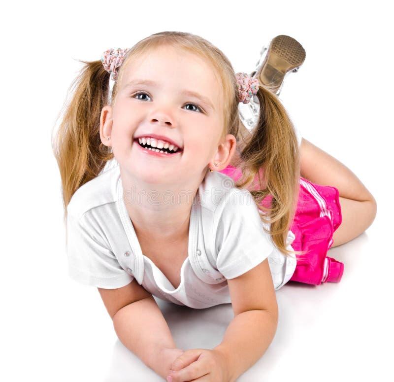 милая девушка меньший усмехаться портрета стоковое изображение