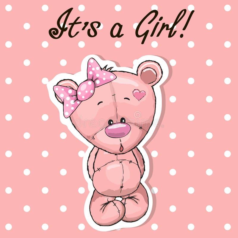 Милая девушка медведя иллюстрация штока
