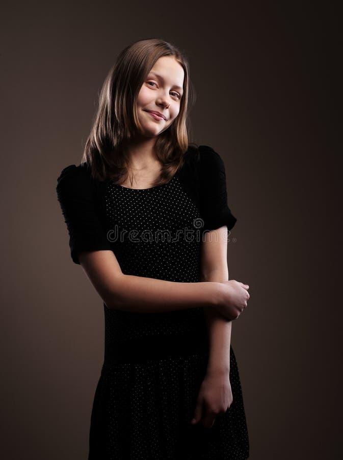 Милая девушка подростка стоковая фотография rf
