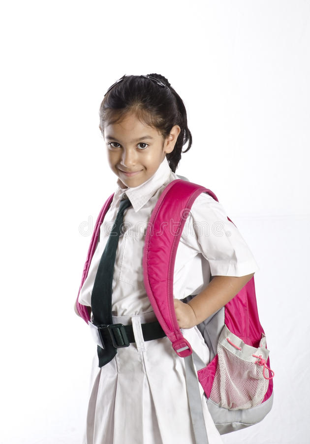 Милая девушка школы стоковые фото