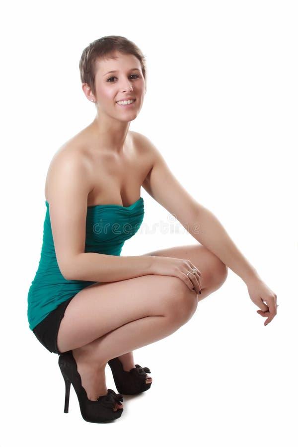 Милая женщина коротких волос стоковое изображение