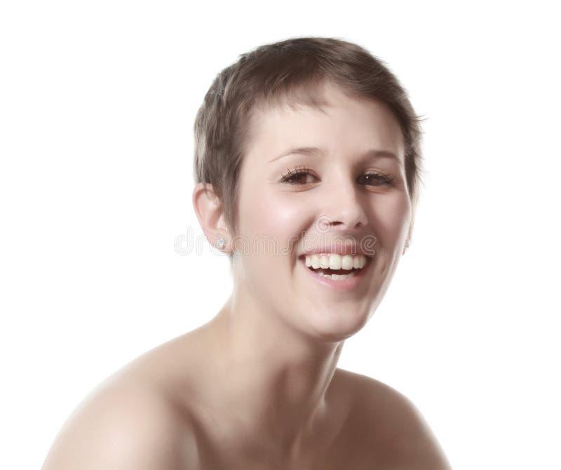 Милая женщина коротких волос стоковая фотография