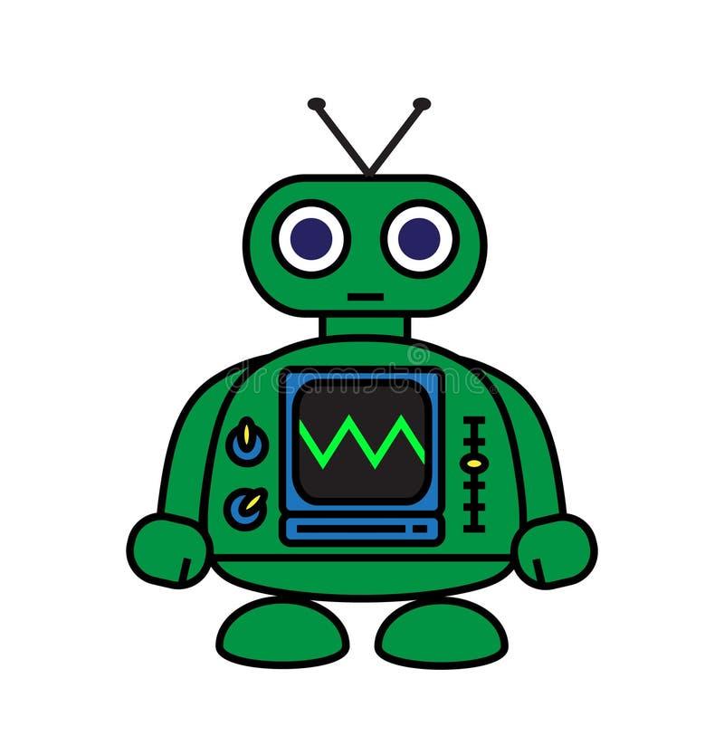 Миниый робот иллюстрация штока