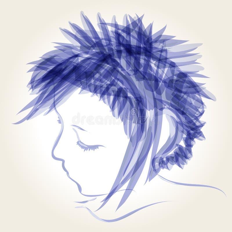 милая зима иллюстрации девушки иллюстрация штока
