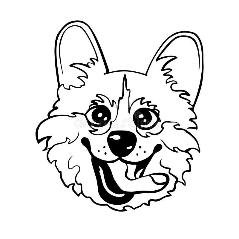 Милая иллюстрация вектора собаки corgi welsh стоковые изображения rf
