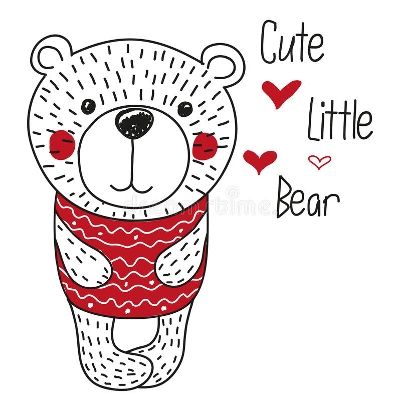 Милая иллюстрация медведей иллюстрация вектора