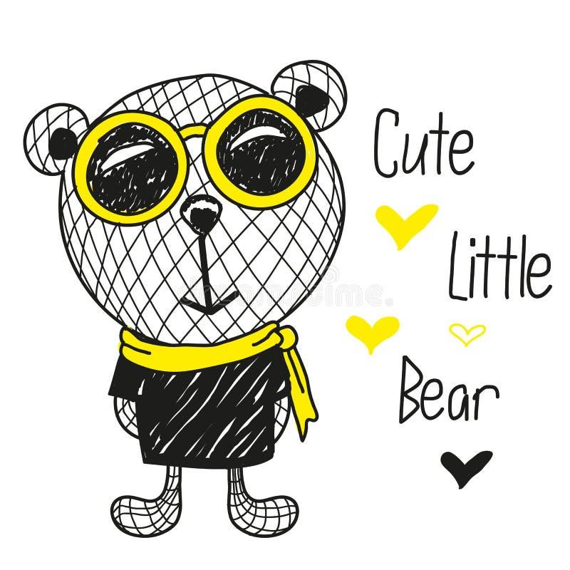 Милая иллюстрация медведей бесплатная иллюстрация
