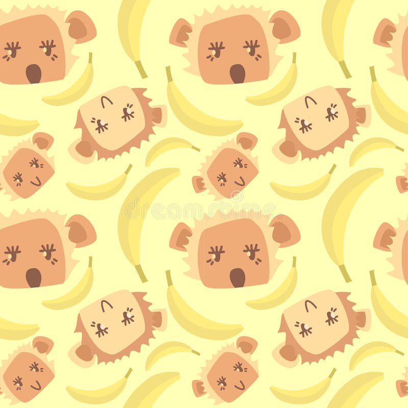 Милая картина с обезьянами стоковая фотография