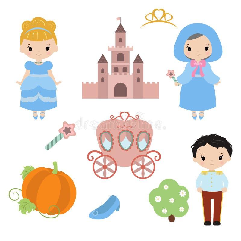 Милая красивая принцесса иллюстрация вектора