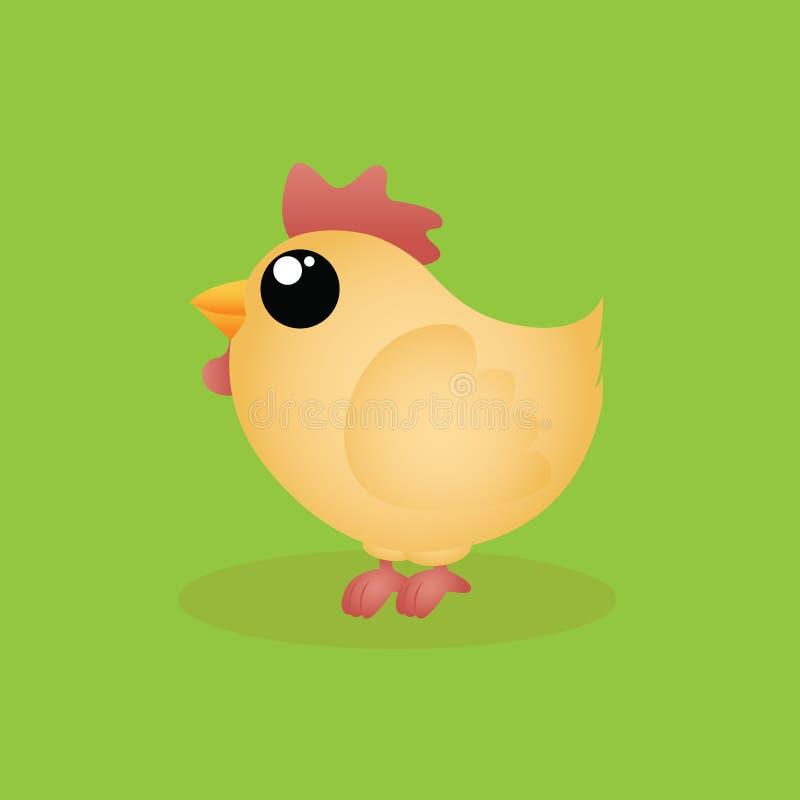 Милая курица иллюстрация вектора
