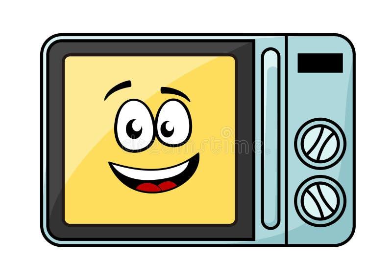 Милая микроволновая печь шаржа иллюстрация штока
