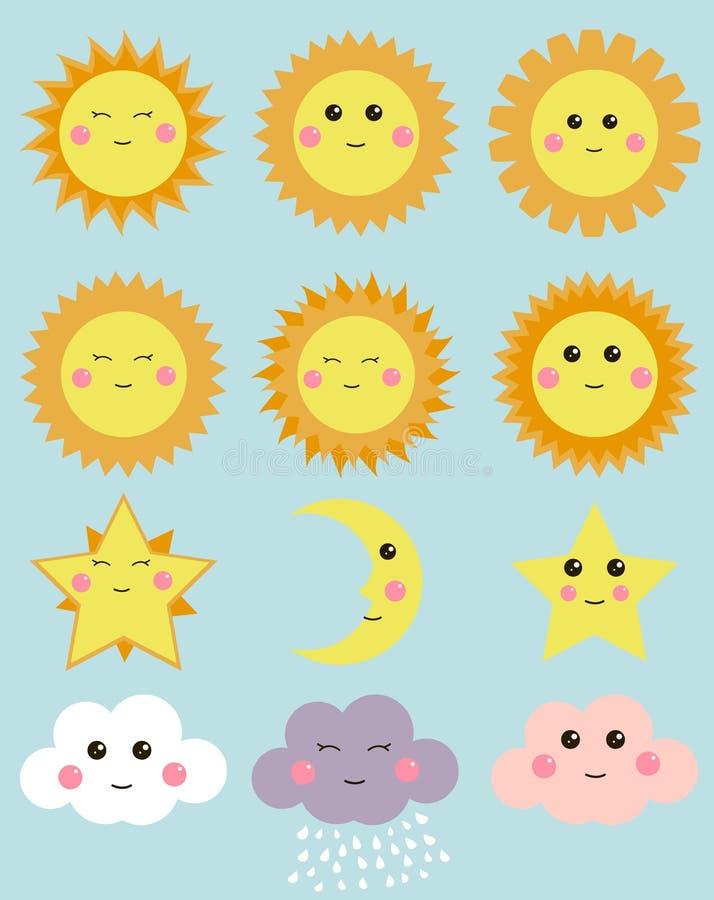 солнце и луна картинки для детей