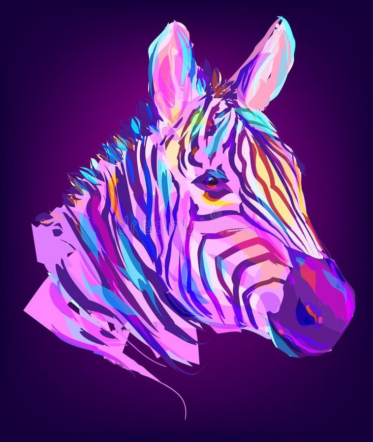 Милая покрашенная голова зебры бесплатная иллюстрация