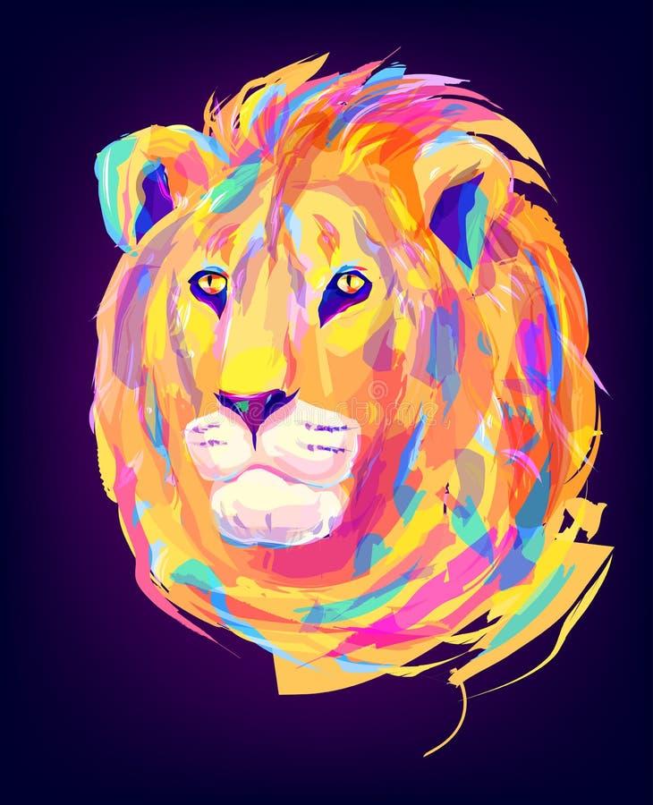 Милая покрашенная голова льва бесплатная иллюстрация