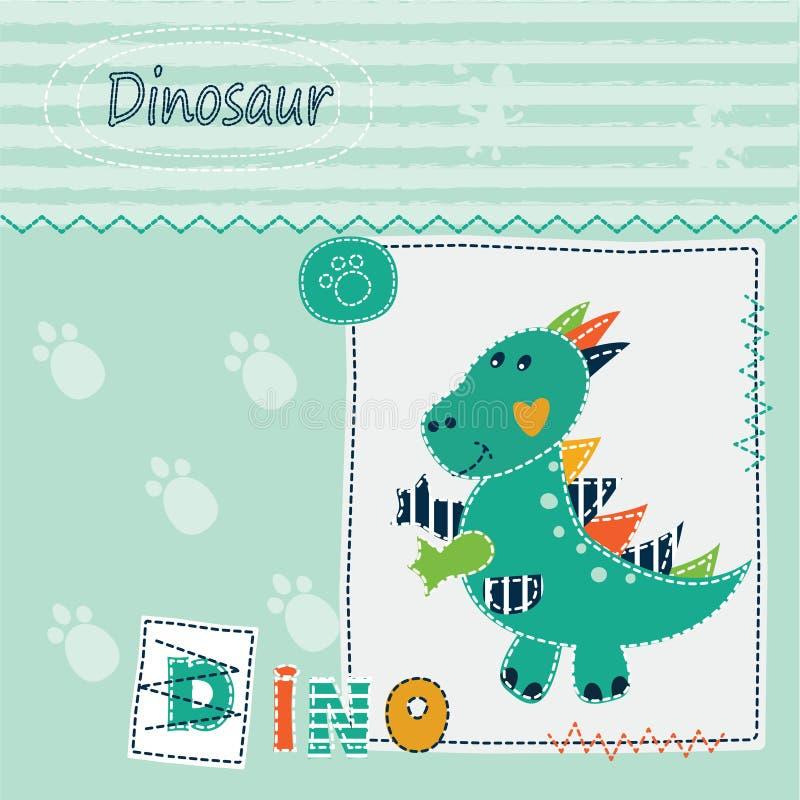 Милая предпосылка ребенк с динозавром бесплатная иллюстрация
