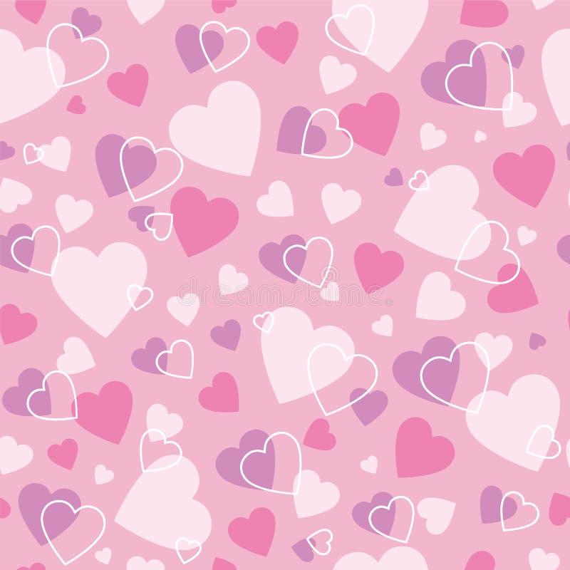 Милая предпосылка сердец иллюстрация вектора