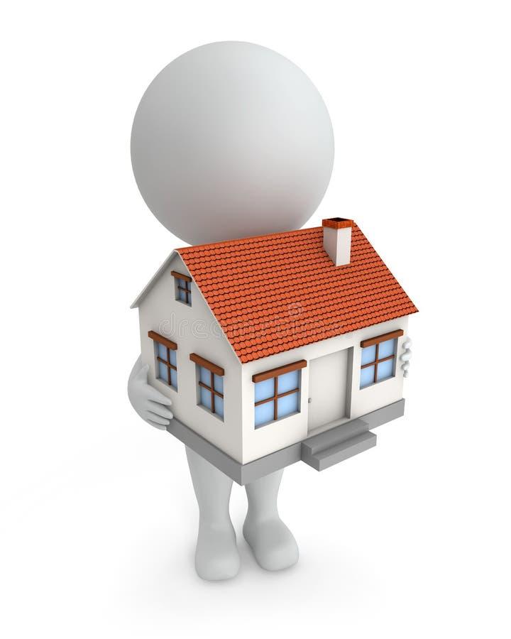 милая продажа дома людей 3d иллюстрация штока