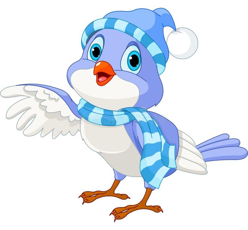 Милая птица зимы иллюстрация вектора