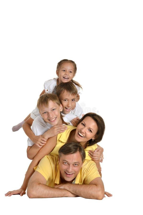 милая семья счастливая стоковая фотография rf