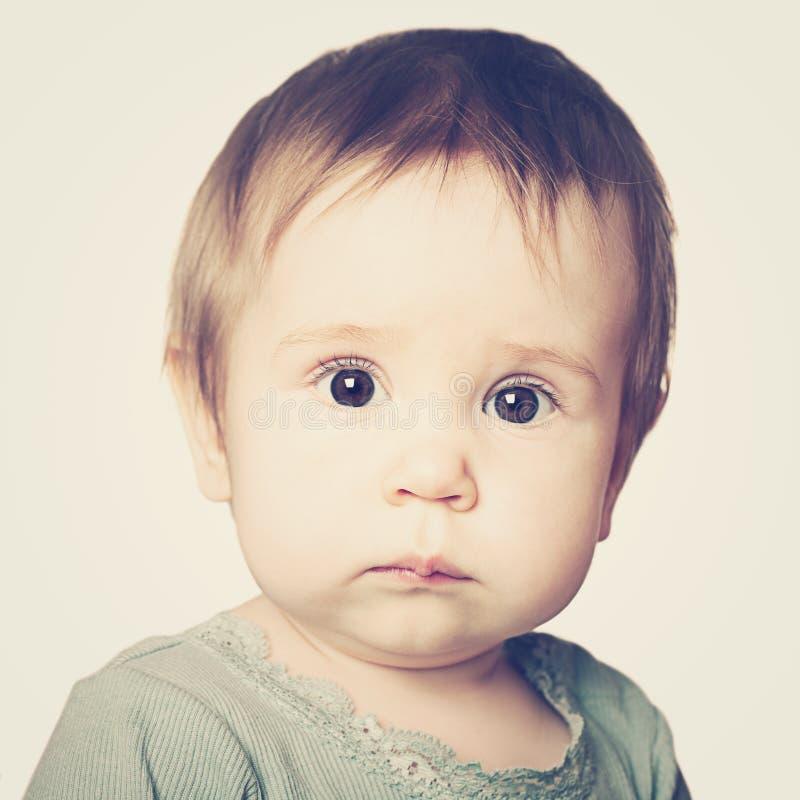 Милая сторона младенца, портрет стоковая фотография