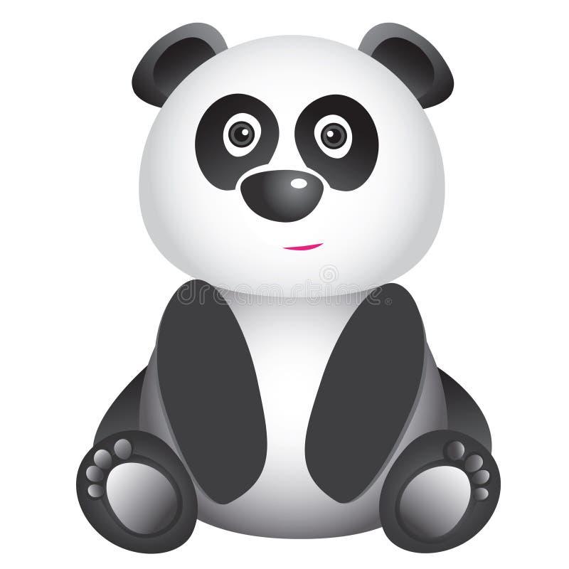 Download Милая усмехаясь панда иллюстрация вектора. иллюстрации насчитывающей погремушк - 37931961