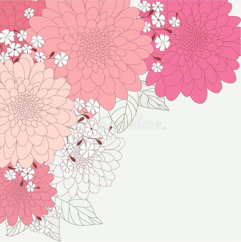 Милая флористическая карточка иллюстрация вектора