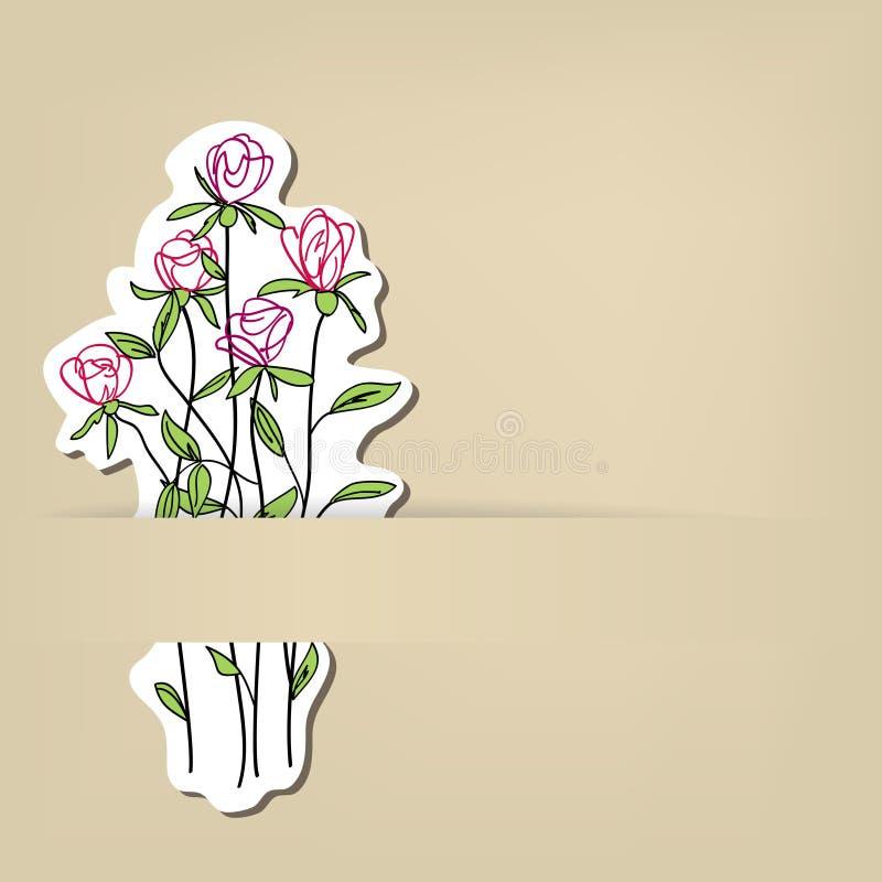 Милая флористическая карточка бесплатная иллюстрация
