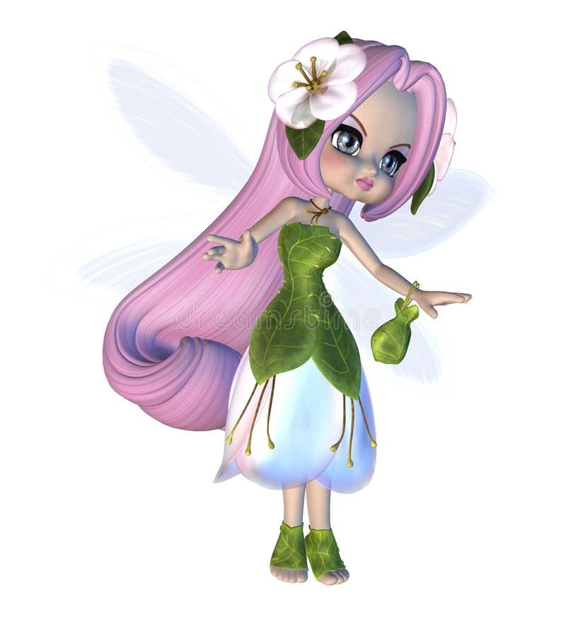 Милая флористическая фея бесплатная иллюстрация