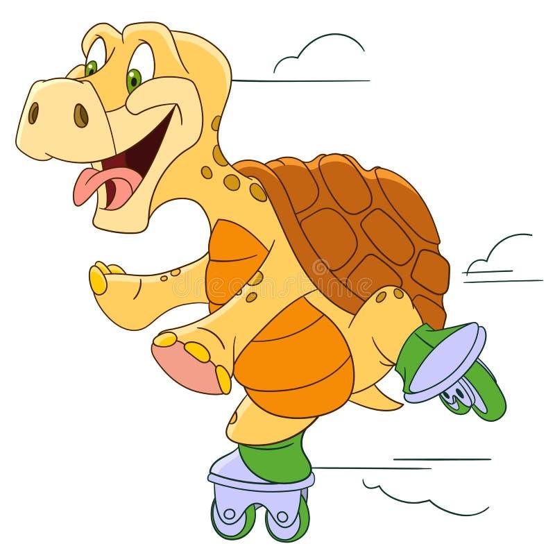 Милая черепаха шаржа бесплатная иллюстрация