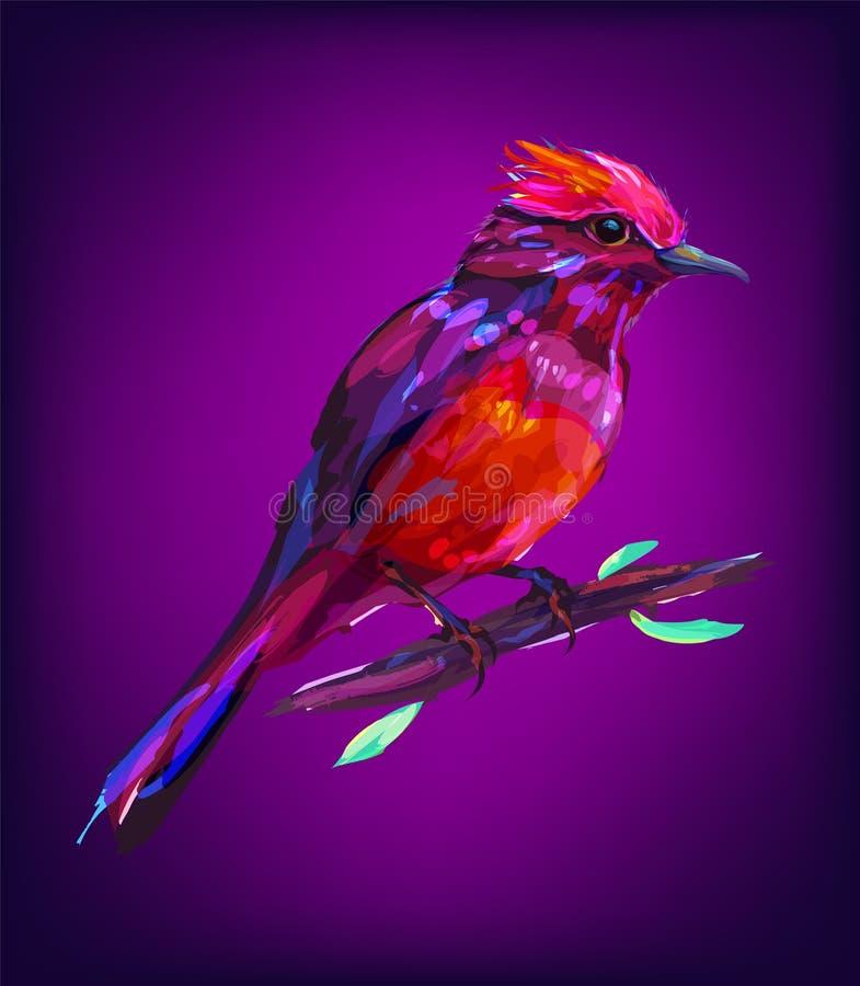 Милая экзотическая голова птицы иллюстрация штока