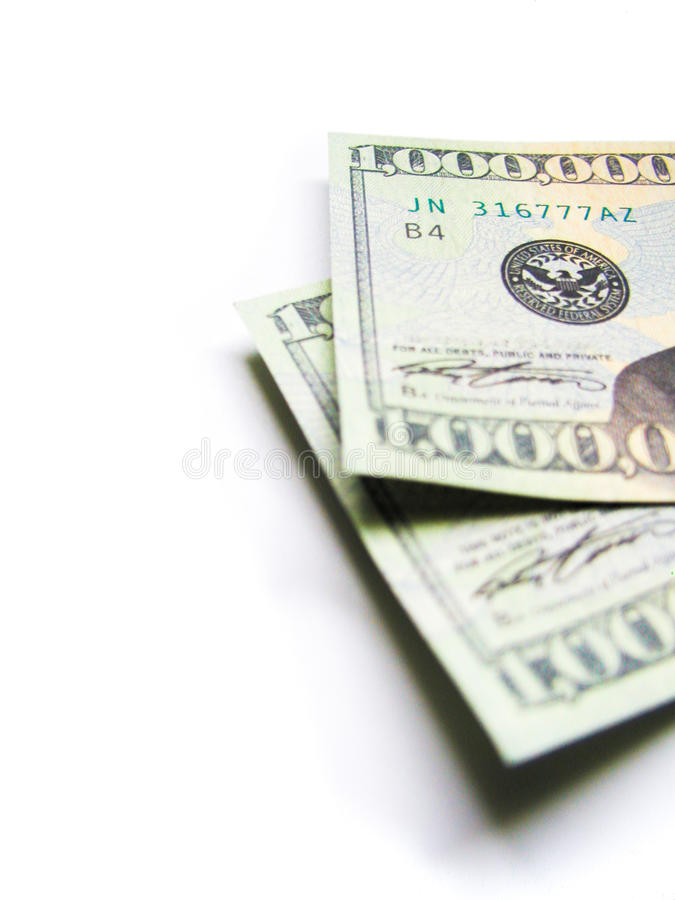 Миллион долларовых банкнот стоковые фото