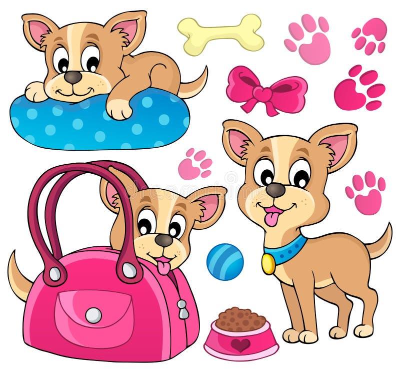 Милое изображение 1 темы собаки иллюстрация вектора
