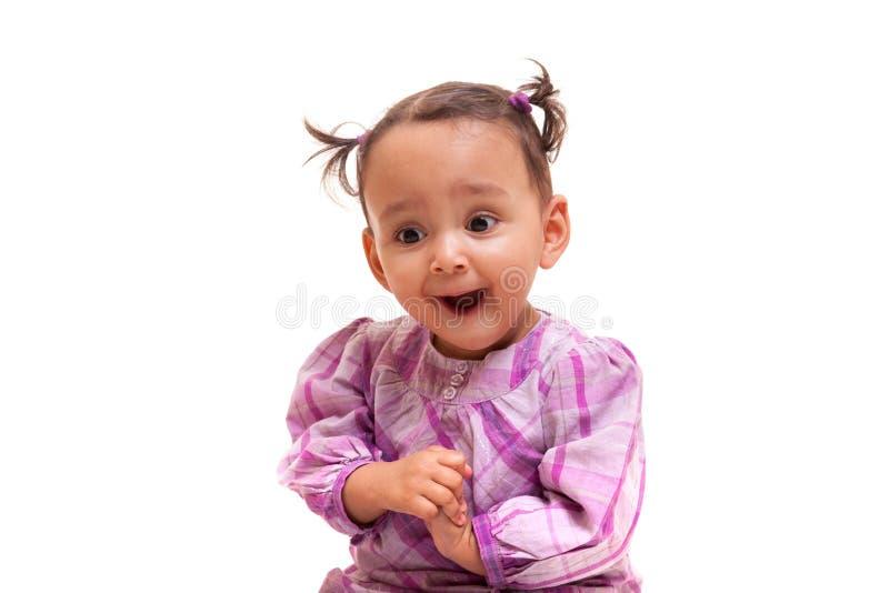 Милое маленькое Афро-американское чернокожие люди девушки младенца стоковое фото