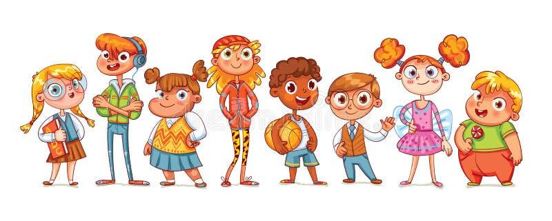Милое разнообразие детей иллюстрация штока