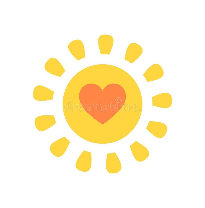 Милое солнце с сердцем