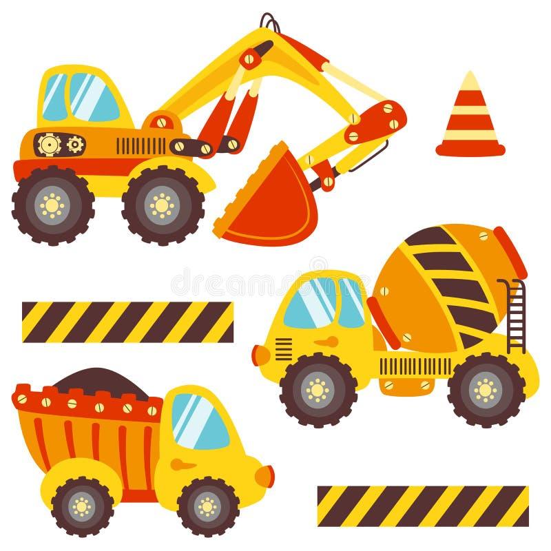 Милое строительное оборудование комплекта для различных целей иллюстрация штока