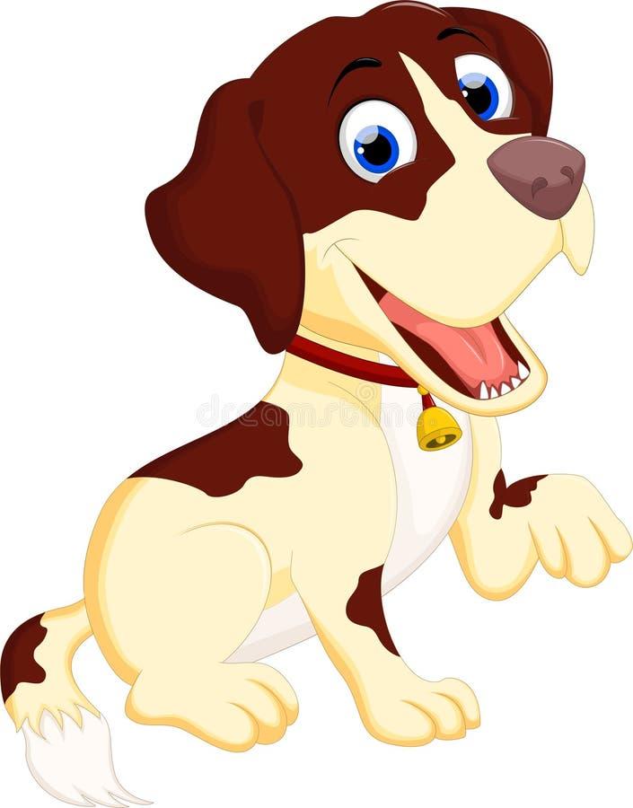 Милое усаживание шаржа собаки младенца иллюстрация вектора