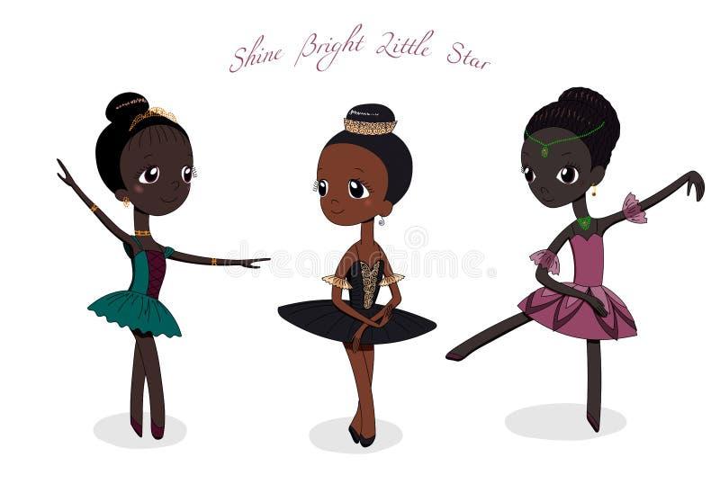 Милые маленькие балерины иллюстрация штока