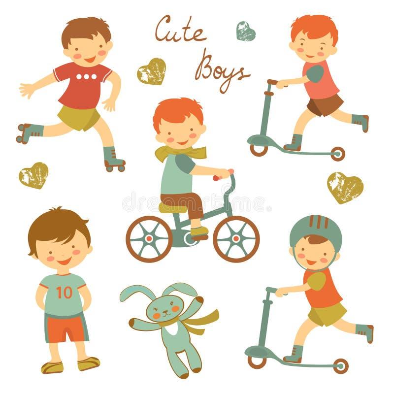Милые мальчики бесплатная иллюстрация