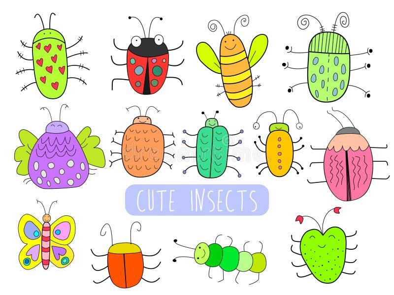 милые насекомые бесплатная иллюстрация