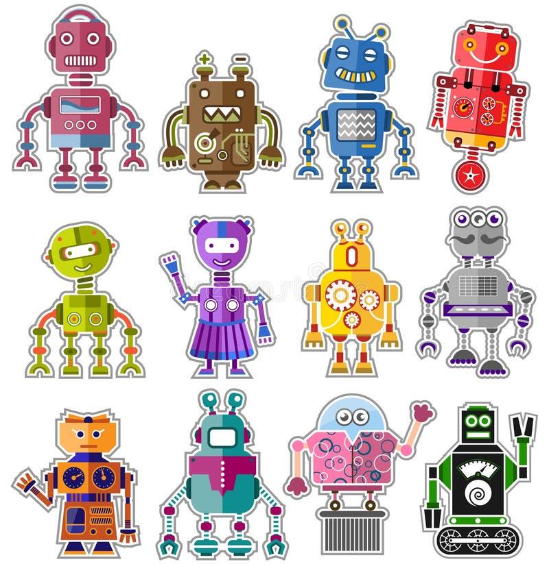 Милые роботы иллюстрация штока