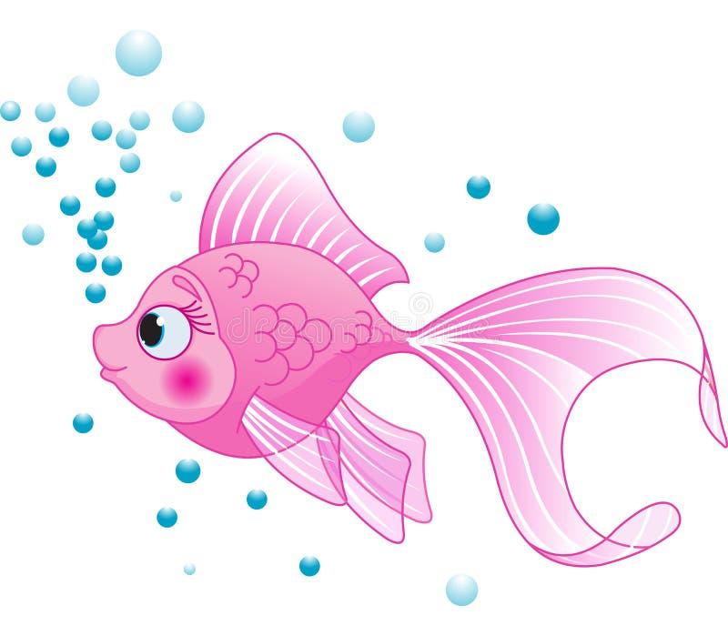Милые рыбы иллюстрация штока