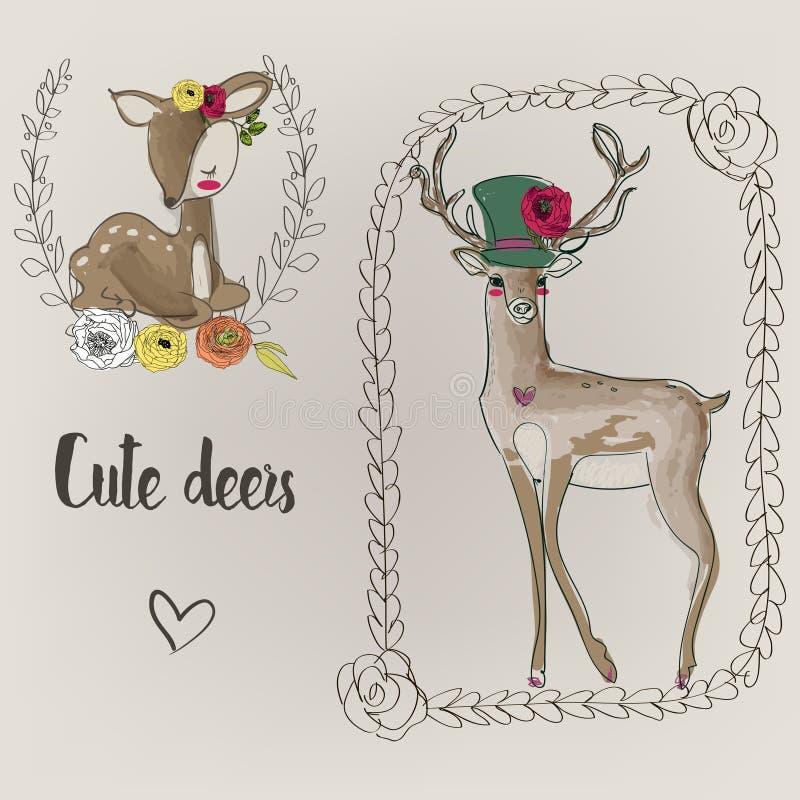 милые deers 2 иллюстрация штока