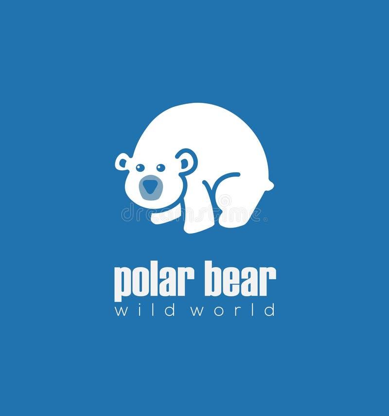 Милый белый полярный медведь стоковое изображение