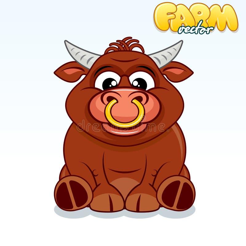 Милый бык шаржа бесплатная иллюстрация