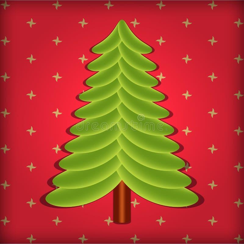 Милый вектор рождественской елки бесплатная иллюстрация